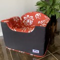 Small Booster Seat - Flame Red Lotus