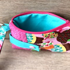 Coin Purse/Pouch with Strap - Colourful Cupcakes