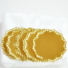 Large Foil Doily Seals {10} Envelope Seals | Paper Doily Stickers | Gold Event