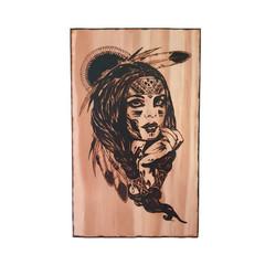 Native America Girl Wall Art