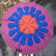 Flower small hat wool