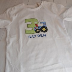 Tractor Birthday Shirt, 3rd Birthday shirt, Tractor Shirt, Personalised Tractor
