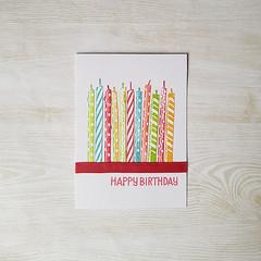 Happy Birthday, Candles Card, Rainbow Birthday Card