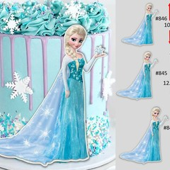 Elsa frozen cut out edible icing cake topper decal image decoration #846