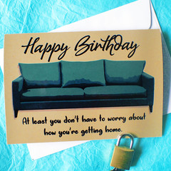 Quarantine Party Funny Birthday Card