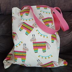 Pinata print small tote bag / shopping bag