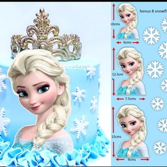 Elsa frozen cut out edible icing cake topper decal image decoration #798