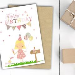Birthday Girl Birthday Card