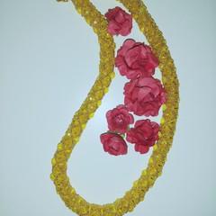 Light Topaz crystal necklace