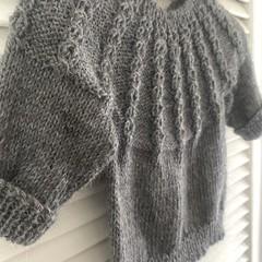 'Ribbed Hakea' alpaca and merino wool jumper