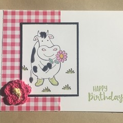 Birthday Card - cow