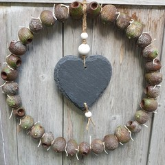 Gumnut & Slate Heart Wreath