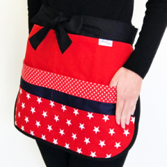 Teacher Apron Red Star Six pockets FREE POST!
