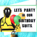 Hazmat Suit Quarantine Funny Birthday Card