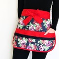 Teacher Apron Roses Six pockets FREE POST!