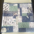 Baby quilt, baby blanket, baby quilts, baby blankets, cot quilt woodland quiltBa