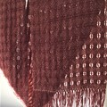Woman's Wool Scarf, Handwoven, Dark Brick Red
