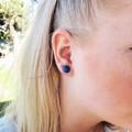 Pretty Studs- Earrings - Glossy resin -  - Nickel Free - Pastel Studs