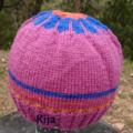 Flower small hat wool