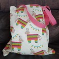 Pinata print small tote bag / shopping bag