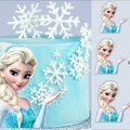 Elsa frozen cut out edible icing cake topper decal image decoration #868