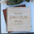 Photo Album Pine Etched Personalised For Any Occasion