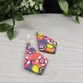Gidget Diamond Dangle earrings - Handcrafted dangle earrings - Sml