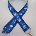 Pink and blue unicorn fantasy lanyard / ID holder / badge holder