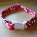 Hawaiian print adjustable dog collars medium