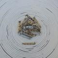 27 x 32mm Silver Brooch Pins (Wheel Catch)