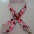 Pink and blue cupcake print / baking lanyard / ID holder / badge holder