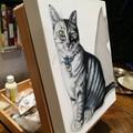 Canvas pet portrait