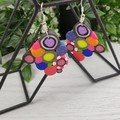 Giggle Pop Color Explosion Dangle earrings - Handcrafted dangle earrings