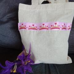 Princess crown party gift bag / tote bag