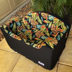 Large Booster Seat - Tropical Foliage