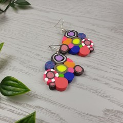 Giggle Pop Color Explosion Dangle earrings - Handcrafted dangle earrings