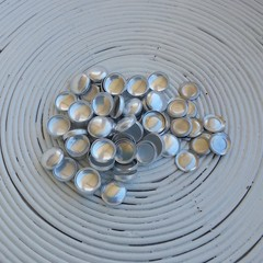 (Size 24 ~ 15mm) 50 x Self Cover Buttons with FLAT Back