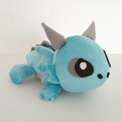 Dragon Plushie, Soft Toy, Kids Stuffed Toy Handmade from Minky