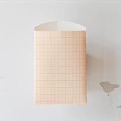 Orange Grid Paper Sachets {10} Vintage Style | Luxe Grid Graph Paper Bags