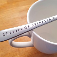 Customise the Year, 21st Anniversary, Stainless steel gift,11 Year Anniversary