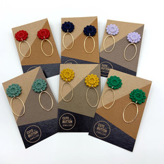 Flower Press Drop Earrings