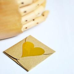 Gold Foil Heart Seals Matte | Gold Heart Seals | Gold Heart Merchandising Seals