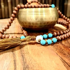 Turquoise 108 Bead Mala Necklace