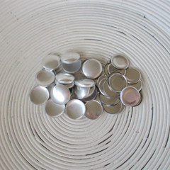 (Size 45 ~ 28mm) 50 x FLAT Back Self Cover Buttons