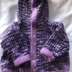 Purple hooded jacket