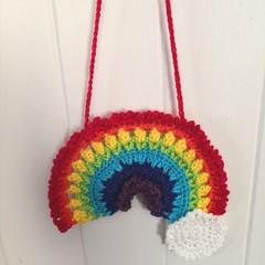 Rainbow wall hanging