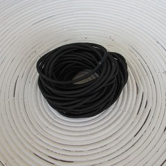 25 x Black Hair Ties/Elastics