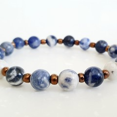 Natural Sodalite Gemstone Bracelet