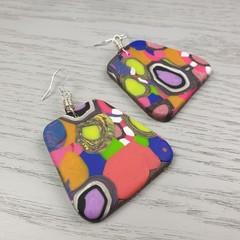 Gidget Pebbles Dangle earrings - Handcrafted dangle earrings - Lge
