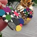 Bubble Pop Color Explosion Dangle earrings - Handcrafted dangle earrings